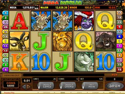 Mega MoolahSlots at the Aztec Riches Casino