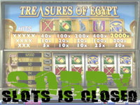 Enlarge Treasures of Egypt Slots Screenshot