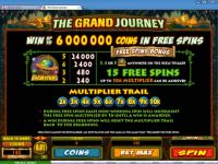 The Grand Journey Microgaming Slot Bonus 1