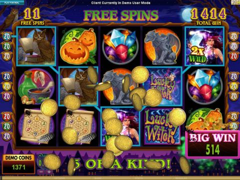 Lucky Witch Microgaming Slot Bonus 1