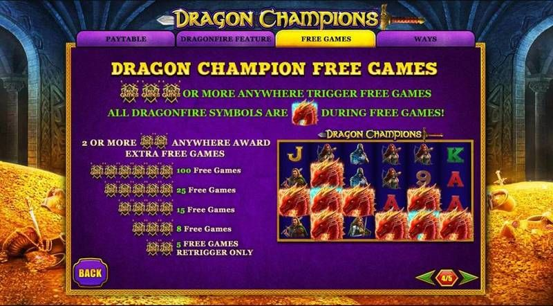 Dragon Champions PlayTech Slot Bonus 1, Free Spins Feature