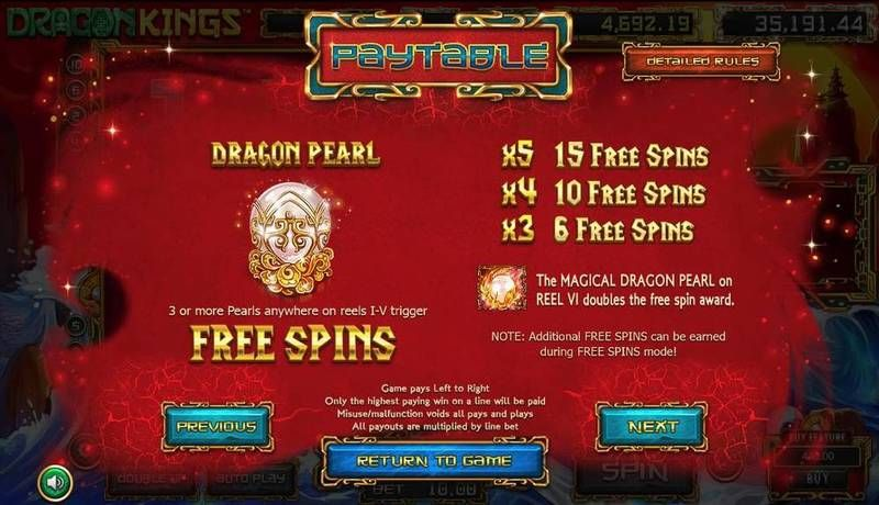 Dragon Kings BetSoft Slot Bonus 1, Free Spins Feature