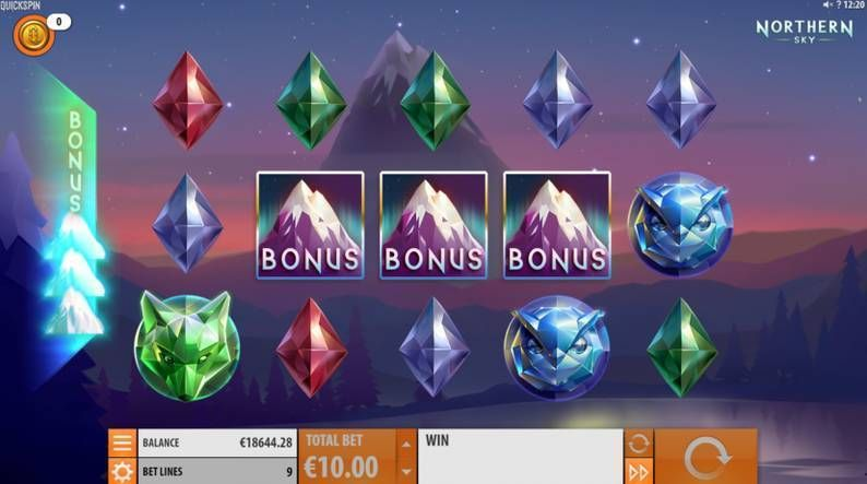Nothern Sky Quickspin Slot Bonus 1, Free Spins Feature