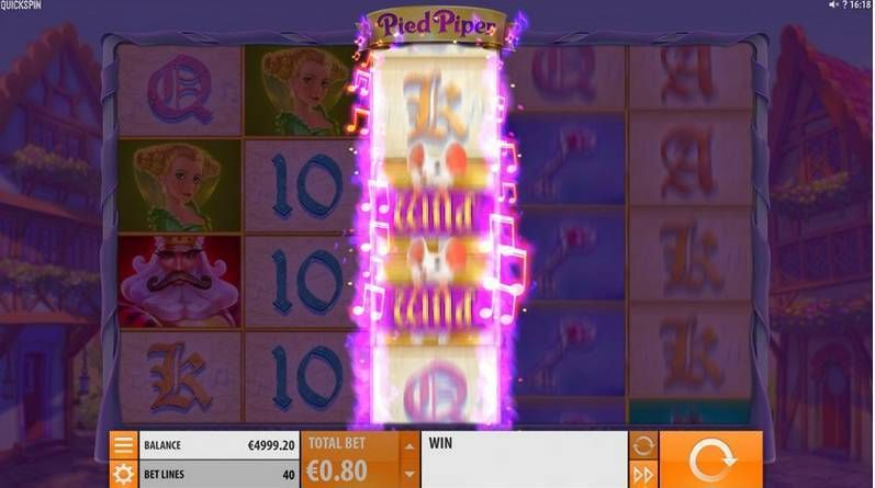 Pied Piper Quickspin Slot Bonus 1, Stacked Wilds Info