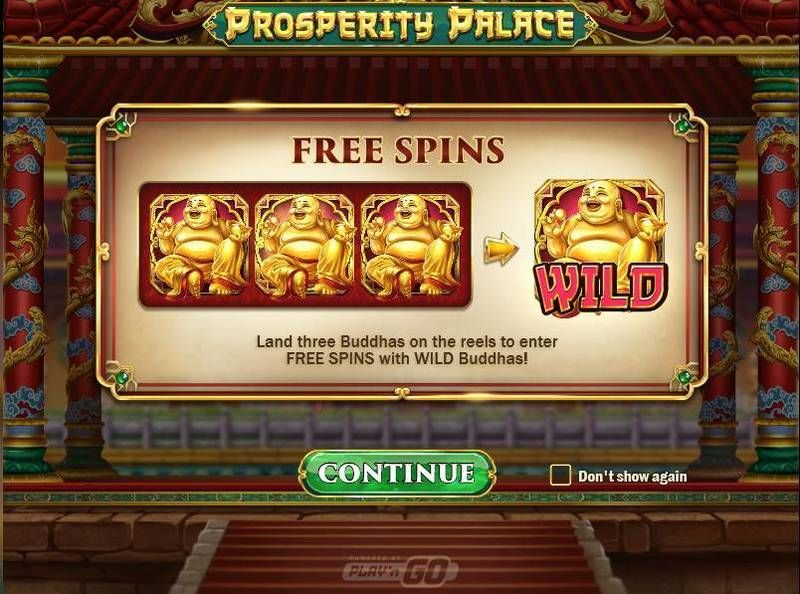 Prosperity Palace Play'n GO Slot Info, Bonus 1, Free Spins Feature