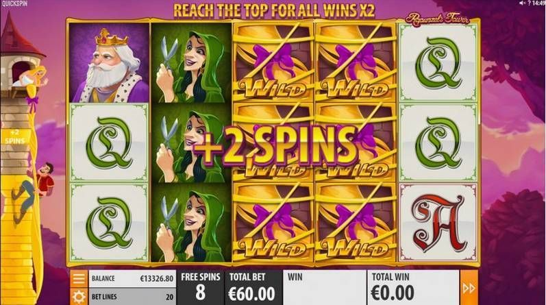 Rapunzel's Tower Makeover Quickspin Slot Bonus 1, Free Spins Feature