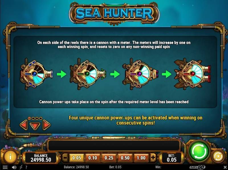 Sea Hunter Play'n GO Slot Bonus 1
