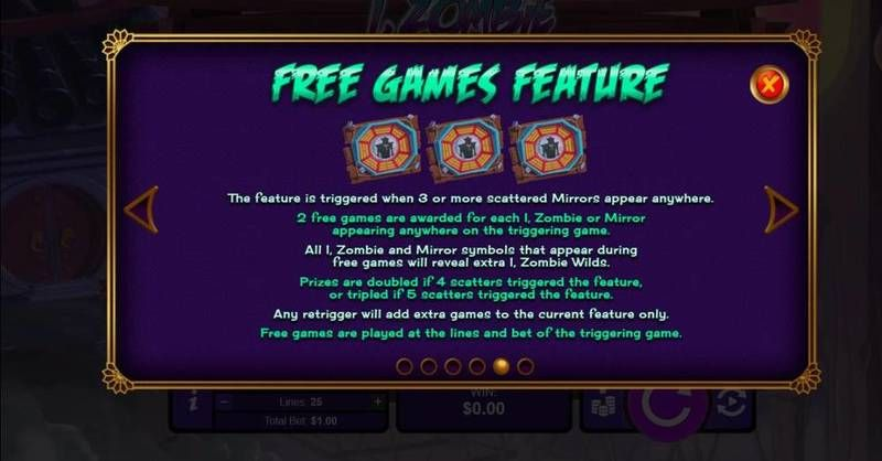 I, Zombie RTG Slot Bonus 2, Free Spins Feature