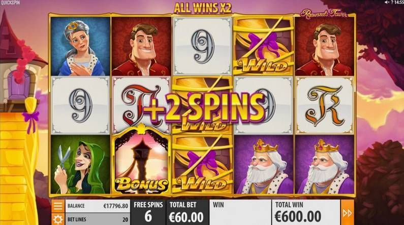 Rapunzel's Tower Makeover Quickspin Slot Bonus 2, Free Spins Feature