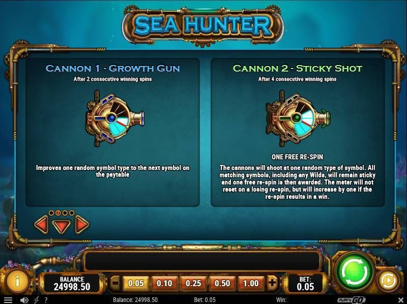 Sea Hunter Play'n GO Slot Bonus 2