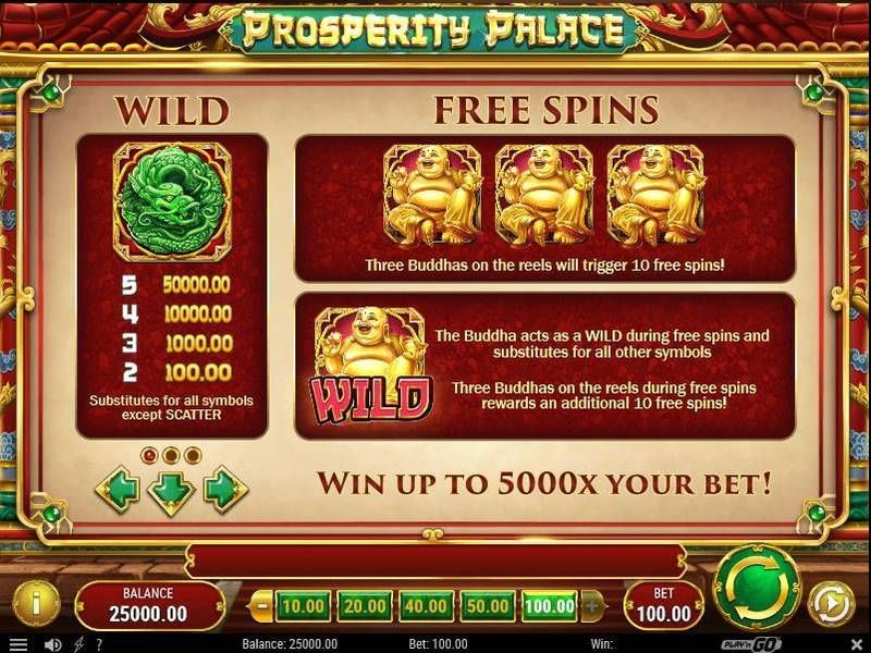 Prosperity Palace Play'n GO Slot Bonus 3, Free Spins Feature