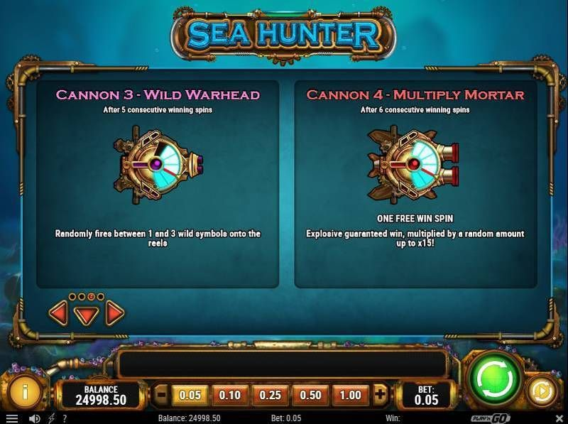Sea Hunter Play'n GO Slot Bonus 3, Free Spins Feature