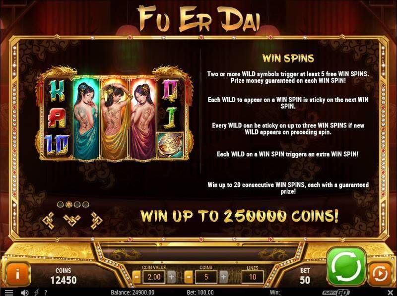 Fu Er Dai Play'n GO Slot Free Spins Feature