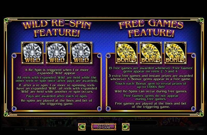 Gemtopia RTG Slot Free Spins Feature