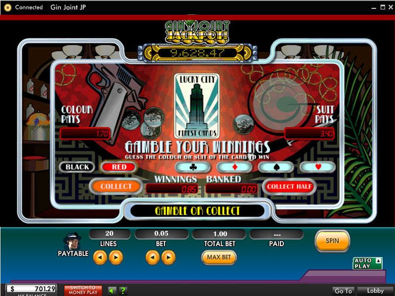 Gin Joint Jackpot Slots 5 Reel 20 Line By 888