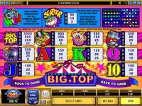 Big Top Microgaming Slot Info