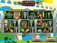 Caesar Salad CryptoLogic Slot Info