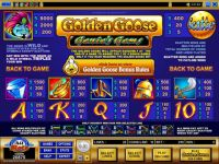 Golden Goose - Genie's Gems Microgaming Slot Info