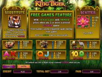 King Tiger  bwin.party   Slot   Info