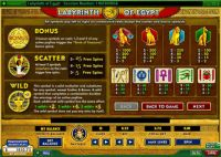 Labyrinth of Egypt 888 Slot Info