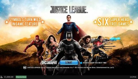 Justice League PlayTech Slot Info