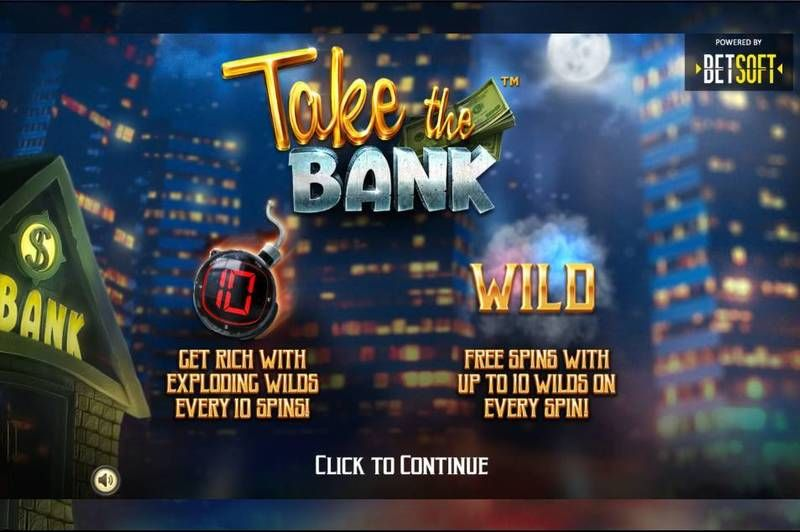 Take the Bank BetSoft Slot Info