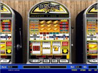 Black and White Gold 5 Line Parlay Slot Slot Reels