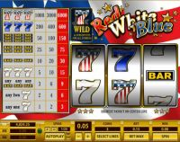 Red White Blue 1 Line Topgame Slot Slot Reels