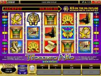 Treasure Nile Microgaming Slot Reels