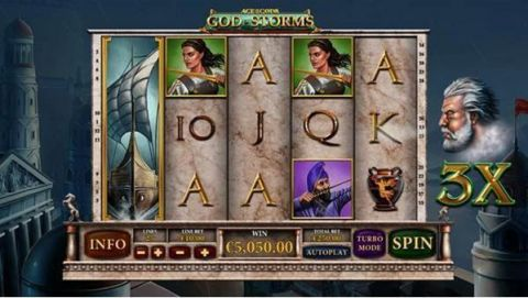 Age of the Gods - God of Storms PlayTech Slot Slot Reels