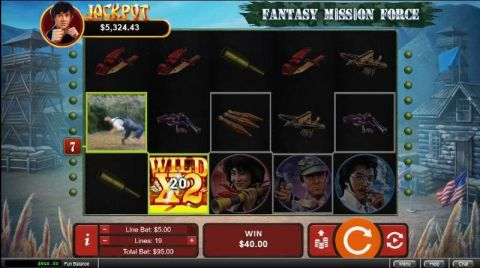 Fantasy Mission Force RTG Slot Slot Reels, Winning