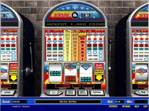 Fire and Ice 1 Line Parlay Slot Slot Reels