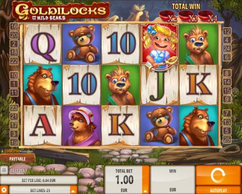 Goldilocks Quickspin Slot Slot Reels
