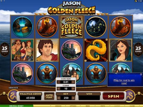 Jason and the Golden Fleece Microgaming Slot Slot Reels