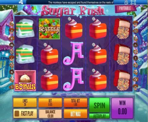Sugar Rush Winter Topgame Slot Reels