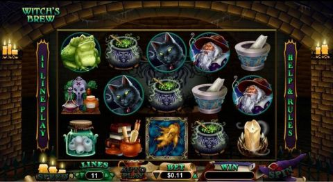 Witch's Brew RTG Slot Slot Reels