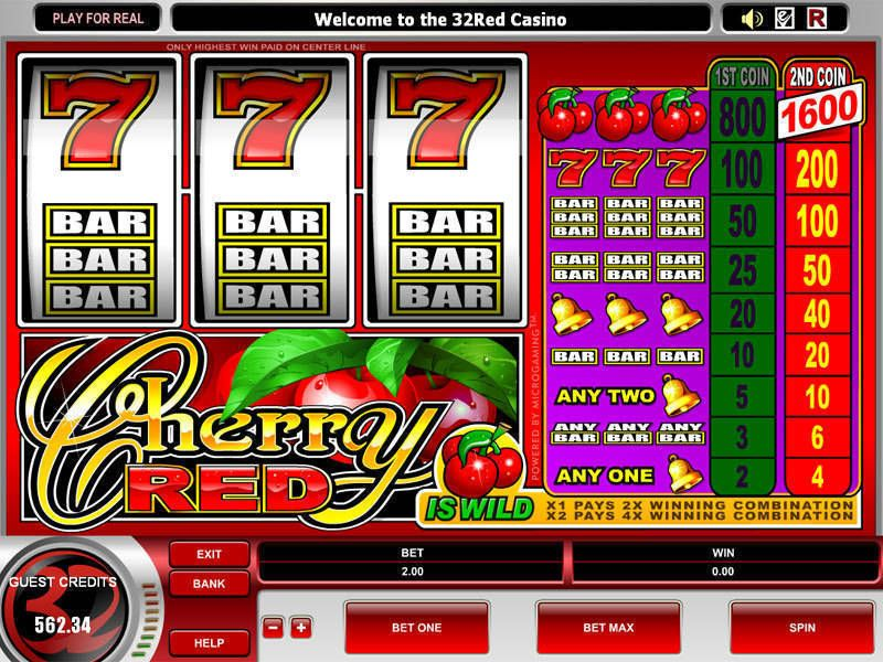 Cherry Red Microgaming Slot Slot Reels