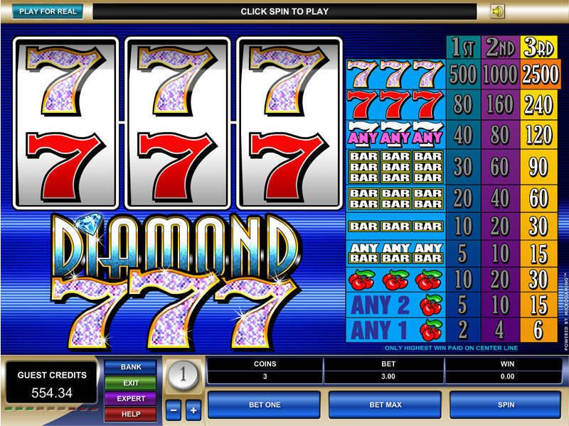 Diamond Sevens Microgaming Slot Slot Reels