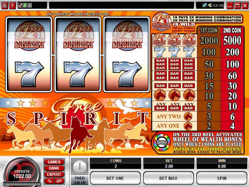 Free Spirit Wheel of Wealth Microgaming Slot Slot Reels