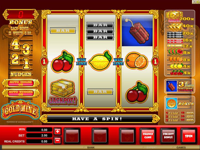 Gold Mine Slot Machine - Play Free Microgaming Slots Online