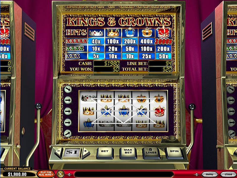 Kings and Crowns PlayTech Slot Slot Reels