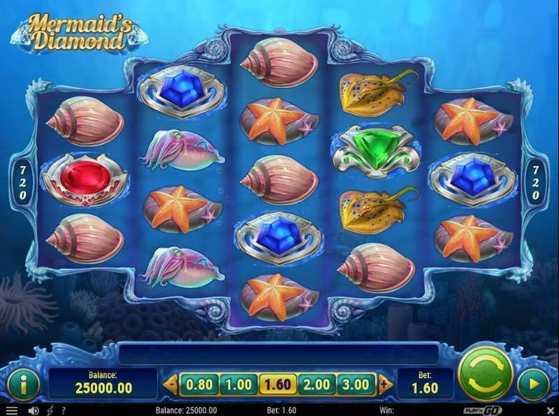 Mermaid's Diamonds Play'n GO Slot Slot Reels