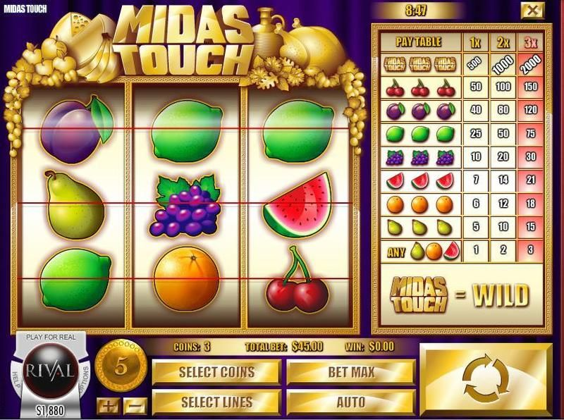 Midas Touch  Rival   Slot   Slot Reels