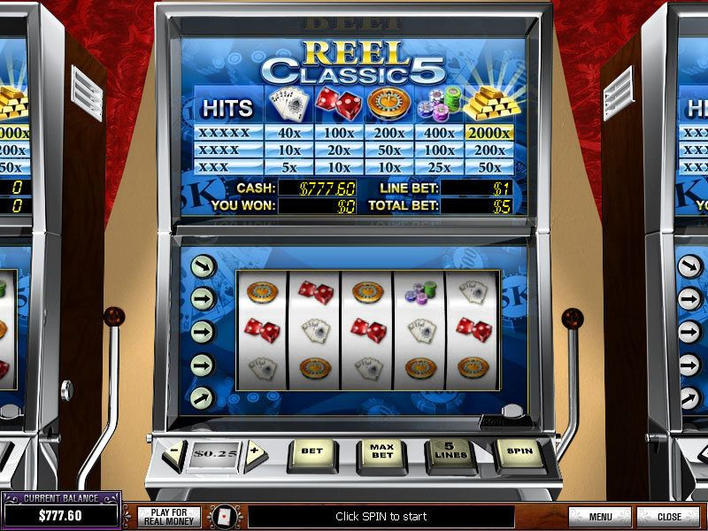 Reel Classic 5 Casino Slots - 5 Reel/5 Line by PlayTech