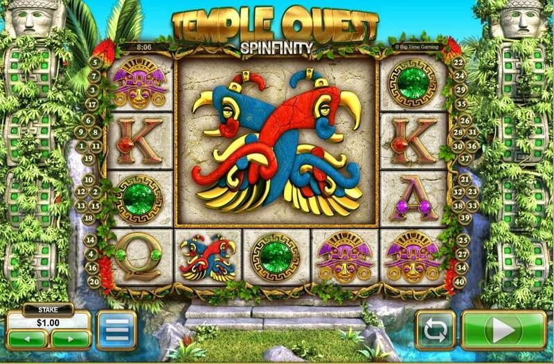 Temple Quest Spinfinity Big Time Gaming Slot Slot Reels