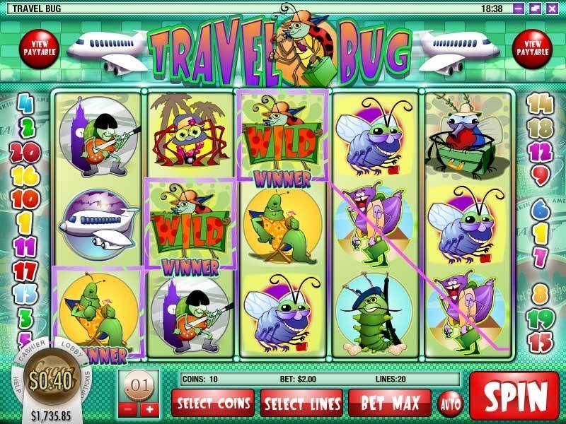 Travel Bug Rival Slot Slot Reels