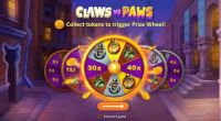 Claws vs Paws Playson Slot Wheel